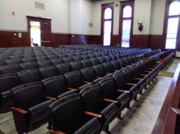 Elk County Courthouse, PA Reupholstery of Auditorium Seating