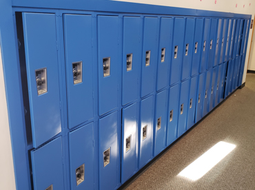St. Michael the Archangel Catholic School, MI Electrostatic Painting of Lockers