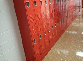 Watterson Elementary School, Louisville, KY Electrostatic Painting of Lockers