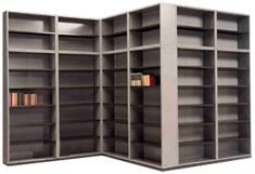 Electorstatic painted book shelf